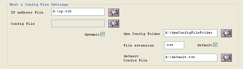 In ip address file set the file where the hosts which for Dynamic configuration tool